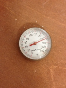 Internal temperature of the oven